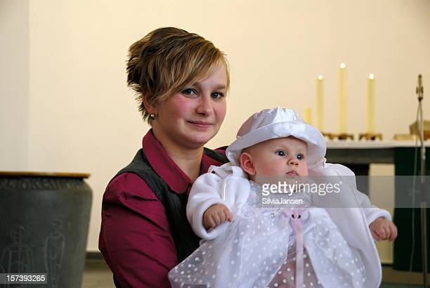 baptism - mother and baby