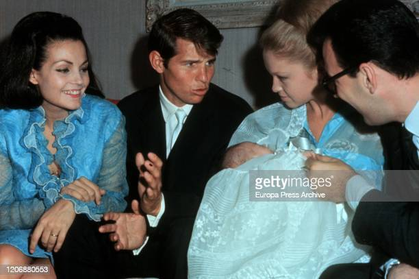 Baptism of Augusto Jose Alguero Garcia, son of Carmen Sevilla and Augusto Alguero , whose godparents are the singer and actress Pepa Flores, known by...