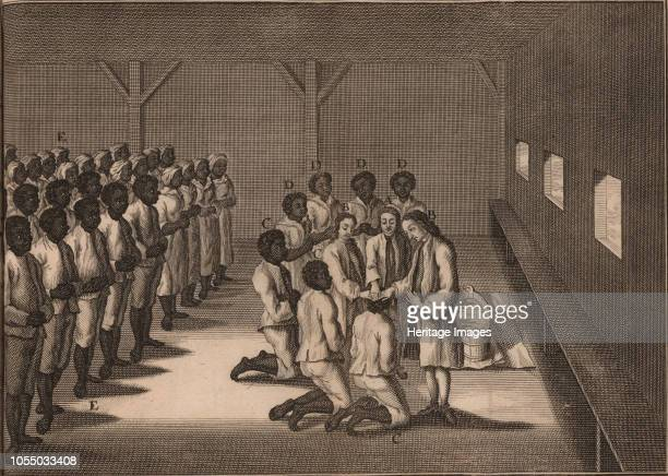 Baptism of black slaves 1757 Private Collection Artist Anonymous