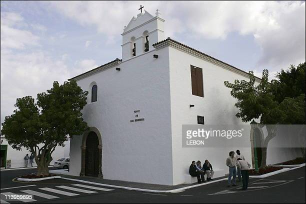 Baptism of Carlos son of HRH Princess Alexia of Greece and Carlos Morales Quintana at Nuestra Senora des los Remedios Church Yaiza in Lanzarote Spain...