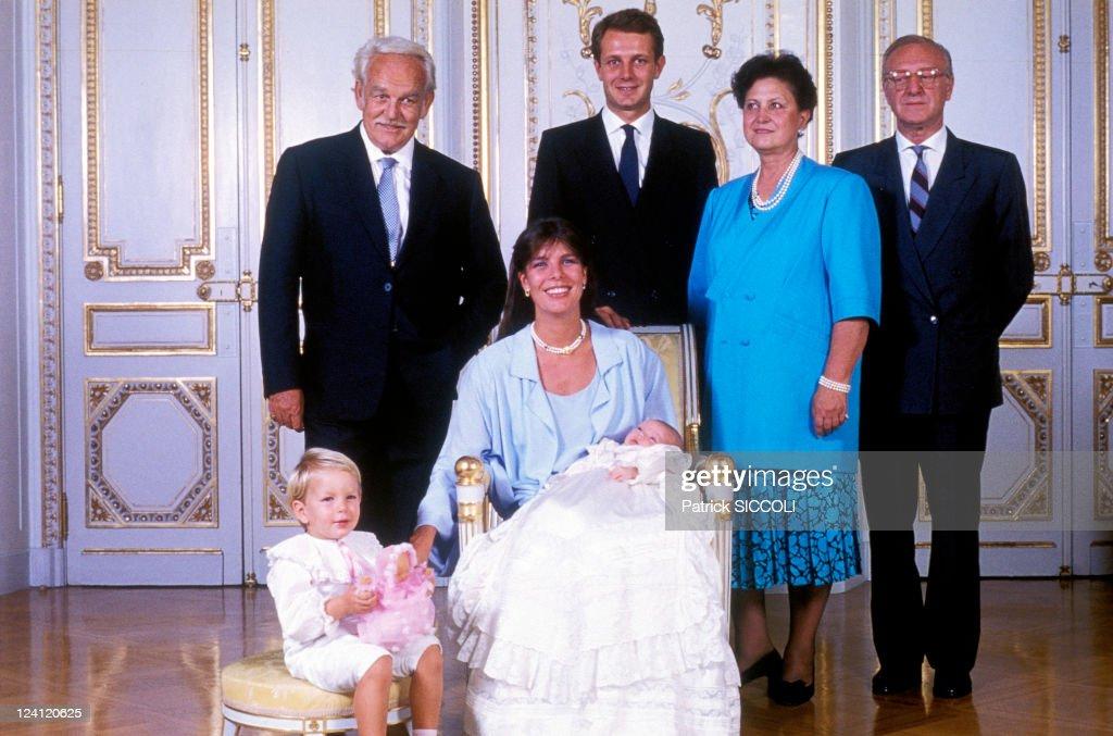 Baptism Of Charlotte Casiraghi In Monaco, Monaco On September 21, 1986. : News Photo