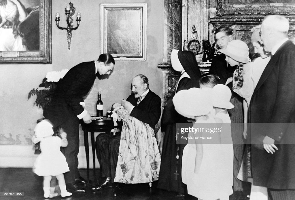 Baptism Of Prince Henry, Son Of Count Of Paris : News Photo