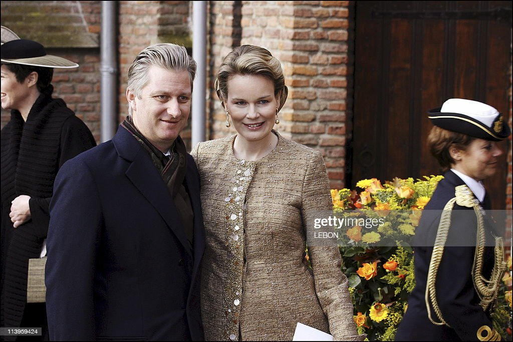 Baptism of Princess Alexia Juliana Marcela Laurentien, daughter of Prince Willem Alexander and Princess Maxima Zorreguieta of the Netherlands at the Dorpskerk church of Wassenbar near The Hague In The Hague, Netherlands On November 19, 2005- : News Photo