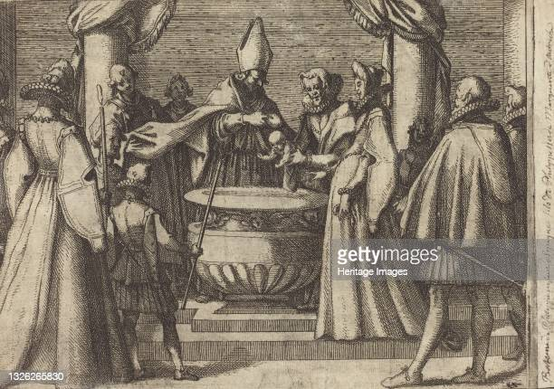 Baptism of the Prince of Spain [verso], 1612. Artist Jacques Callot.