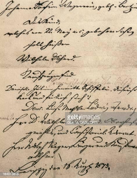 Baptismal certificate of Richard Wagner Bayreuth RichardWagnerMuseum