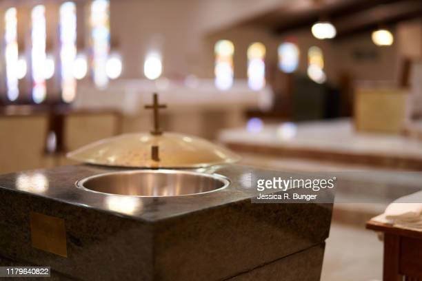 baptismal font - baptism stock pictures, royalty-free photos & images