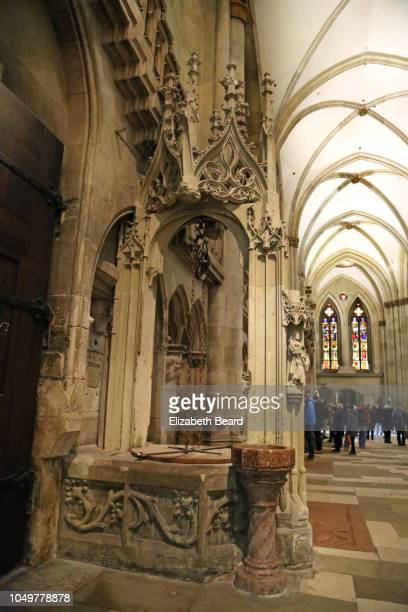 Baptismal font, Regensburg Cathedral, Germany