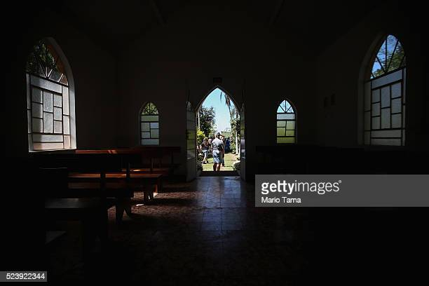 A Baptist church stands in the American Cemetery during the annual Festa Confederada or Confederate Party on April 24 2016 in Santa Barbara d'Oeste...