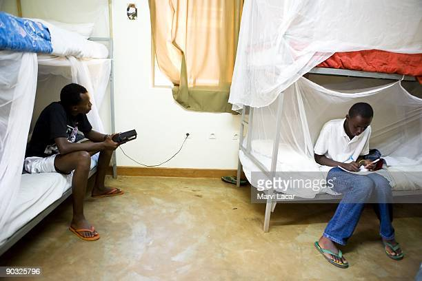 Baptist Kabayiza and Simbi Origene take a break inside the boys dorm after school at the Agahozo Shalom Youth Village on March 12 2009 in Rwamagana...