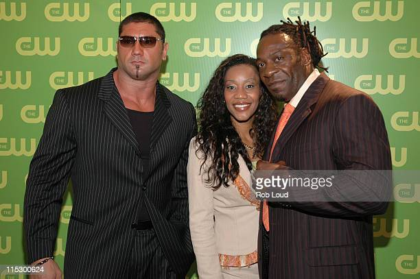 Baptista Sharmell and Booker T during The CW Upfront Red Carpet at Madison Square Garden in New York New York United States