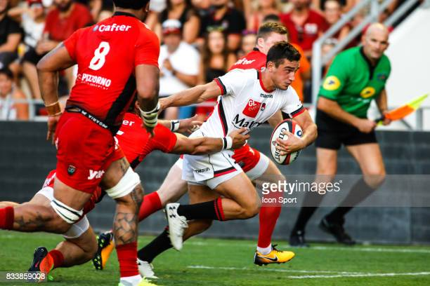 Baptiste Couilloud of Lyon during the preseason match between Rc Toulon and Lyon OU at Felix Mayol Stadium on August 17 2017 in Toulon France