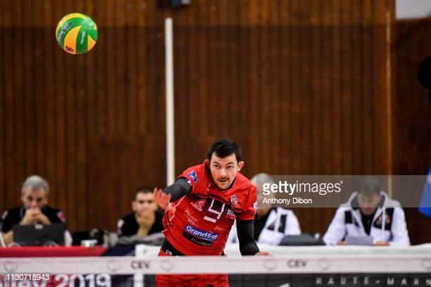 Baptiste Geiler of Chaumont during the CEV Champions League match Chaumont 52 and SIR Safety Perugia on March 14 2019 in Reims France