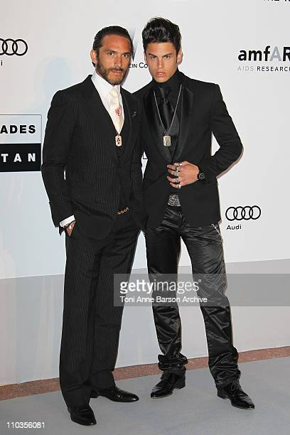 Baptiste Giabiconi and Brad Kroenig attend the amfAR Cinema Against AIDS 2010 at the Hotel du Cap during the 63rd Annual Cannes Film Festival on May...