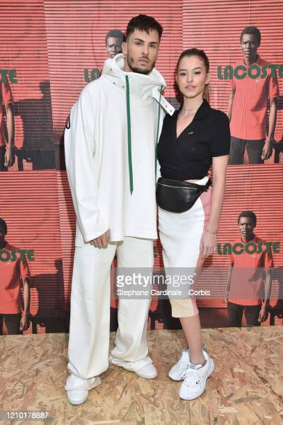 Baptiste Giabiconi and Léa Elui attends the Lacoste show as part of the Paris Fashion Week Womenswear Fall/Winter 2020/2021 on March 03 2020 in Paris...
