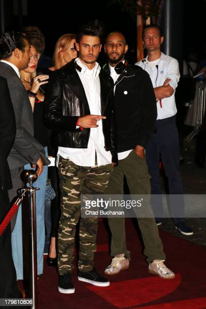 Baptiste Giabiconi and Swizz Beatz attend Music Meets Media 2013 at Grand Hotel Esplanade on September 5, 2013 in Berlin, Germany.