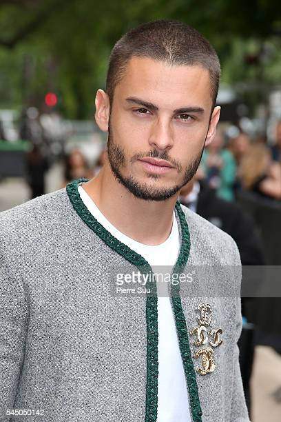 Baptiste Giabiconi arrives at the Chanel Haute Couture Fall/Winter 20162017 show as part of Paris Fashion Week on July 5 2016 in Paris France