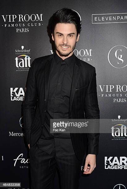 Baptiste Giabiconi attends the 'Baptiste Giabiconi Stylecom' Launch Party at VIP Room Theater Paris on February 28 2015 in Paris France