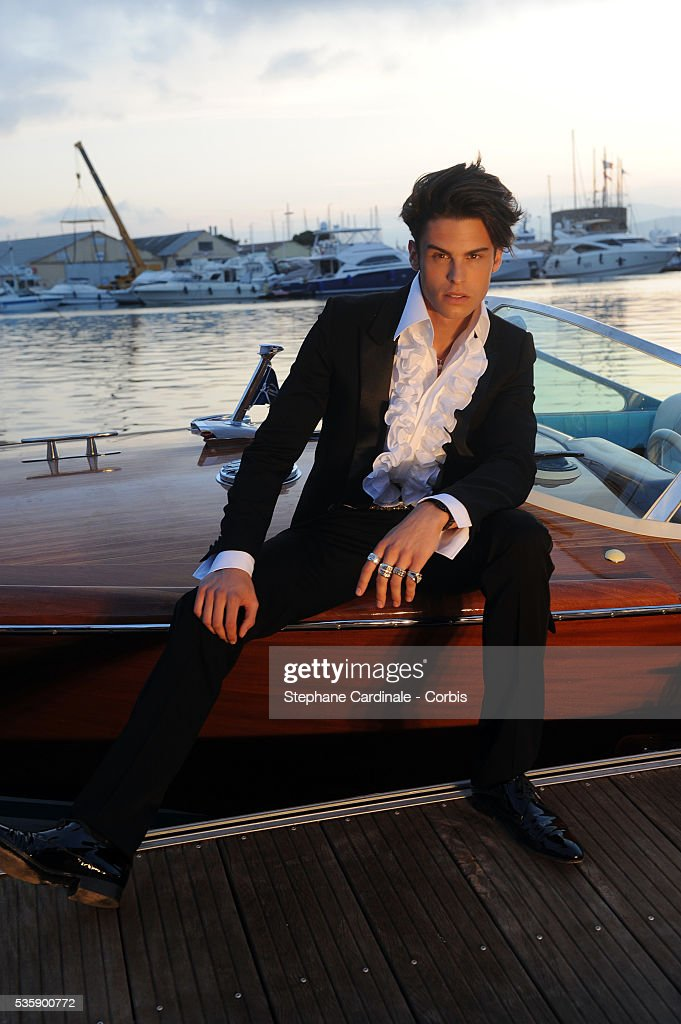 Baptiste Giabiconi attends the Chanel Cruise Collection Presentation in Saint Tropez