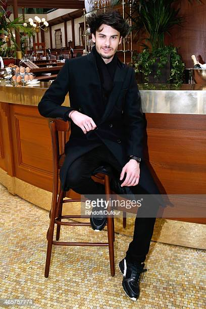 Baptiste Giabiconi attends the Chanel show as part of the Paris Fashion Week Womenswear Fall/Winter 2015/2016 on March 10 2015 in Paris France