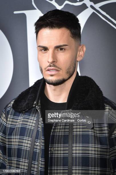 Baptiste Giabiconi attends the Dior Homme Menswear Fall/Winter 20202021 show as part of Paris Fashion Week on January 17 2020 in Paris France
