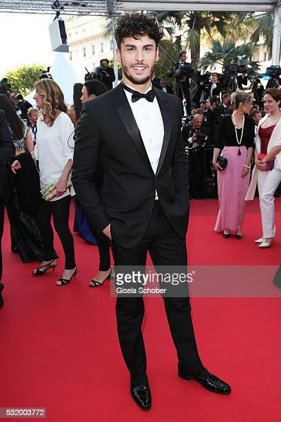 Baptiste Giabiconi attends the Julieta premiere during the 69th annual Cannes Film Festival at the Palais des Festivals on May 17 2016 in Cannes...
