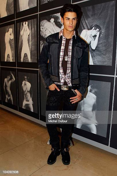Baptiste Giabiconi attends the Karl Lagerfeld Exhibition Launch at Maison Europeenne de la Photographie on September 14 2010 in Paris France