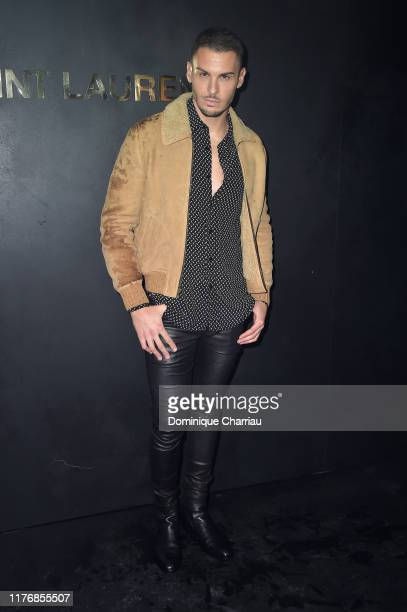 Baptiste Giabiconi attends the Saint Laurent Womenswear Spring/Summer 2020 show as part of Paris Fashion Week on September 24 2019 in Paris France