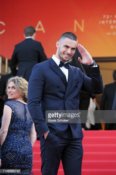 Baptiste Giabiconi attends the screening of Rocketman during the 72nd annual Cannes Film Festival on May 16 2019 in Cannes France