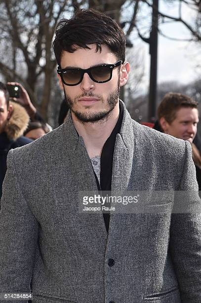 Baptiste Giabiconi is seen arriving at Chanel Fashion show during Paris Fashion Week Womenswear Fall Winter 2016/2017 on March 8 2016 in Paris France