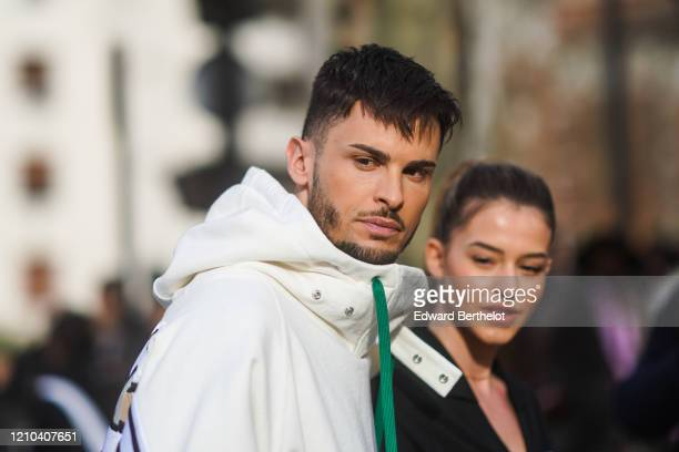 Baptiste Giabiconi is seen outside the Lacoste show during Paris Fashion Week Womenswear Fall/Winter 2020/2021 on March 03 2020 in Paris France