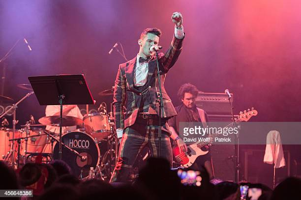 Baptiste Giabiconi performs at La Cigale on October 4 2014 in Paris France