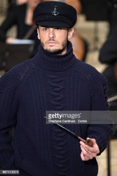 Baptiste Giabiconi walks the runway during the Chanel Collection Metiers d'Art Paris Hamburg 2017/18 at the Elbphilharmonie on December 6 2017 in...