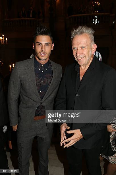 Baptiste Giacobini and Jean Paul Gaultier attend the George Michael Performing For Symphonica to the benefit of the French SidactionArrivals at...