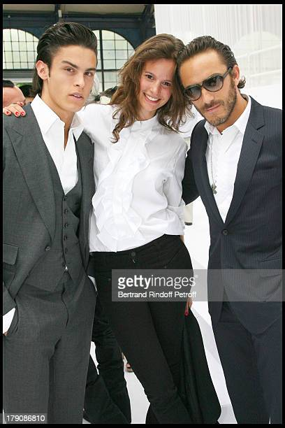 Baptiste Giacobini Charlotte Collard and Sebastien at Dior Men's Fashion Show Summer 2010
