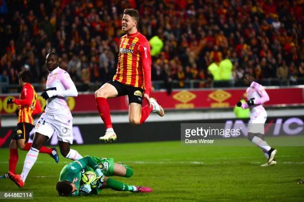 Baptiste GUILLAUME / Benjamin LEROY Lens / Evian Thonon 25eme journee de Ligue 1 Photo Dave Winter / Icon Sport