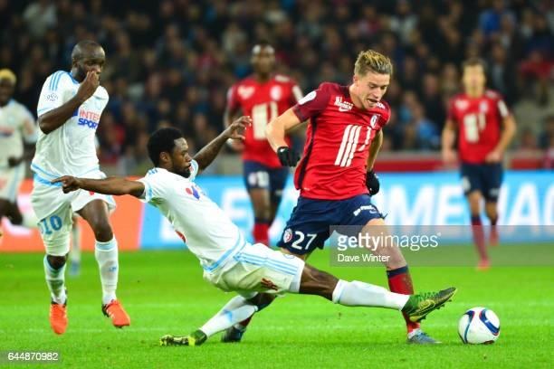 Baptiste GUILLAUME / Nicolas NKOULOU Lille / Marseille 11eme journee de Ligue 1 Photo Dave Winter / Icon Sport