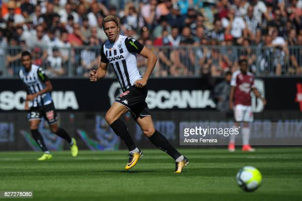 Baptiste Guillaume of Angers during the Ligue 1 match between Angers SCO and FC Girondins de Bordeaux at Stade Raymond Kopa on August 6 2017 in Angers