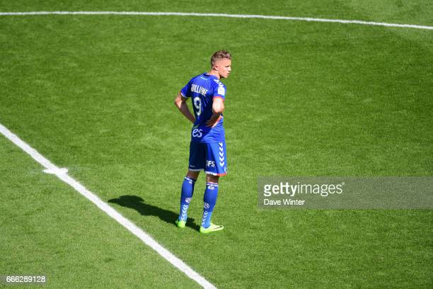 Baptiste Guillaume of Strasbourg during the French Ligue 2 match between Stade de Reims and RC Strasbourg at Stade Auguste Delaune on April 8 2017 in...