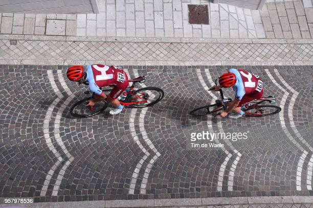 ITALIA CAMPO IMPERATORE ITALY MAY 13 Baptiste Planckaert of Belgium and Team KatushaAlpecin / Jose Goncalves of Portugal and Team KatushaAlpecin /...