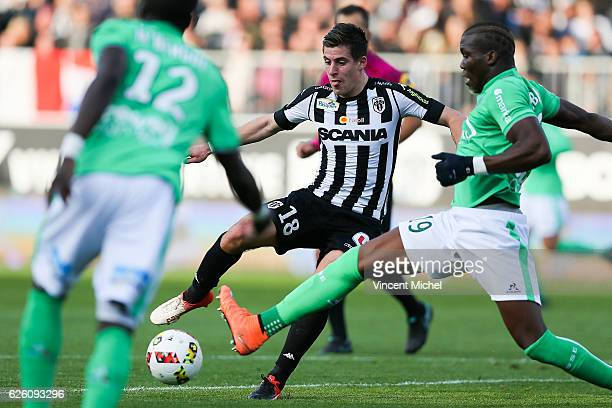 Baptiste Santamaria of Angers during the French Ligue 1 match between Angers and Saint Etienne on November 27 2016 in Angers France