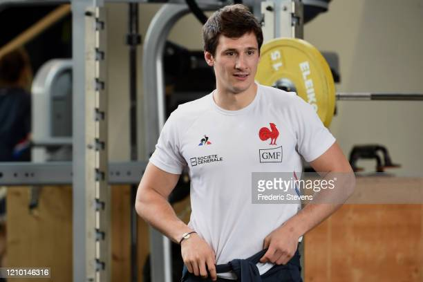 Baptiste Serin during the National Rugby Center squad training at the Sportsground before the Nat West Six Nations match against Scotland on March...