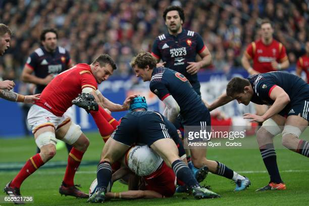 Baptiste Serin during the RBS Six Nations match between France and Wales at the Stade de France on March 18 2017 in Paris France