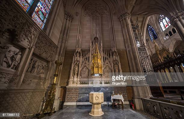 Baptistery in St. Patrick's Cathedral, New York City, USA