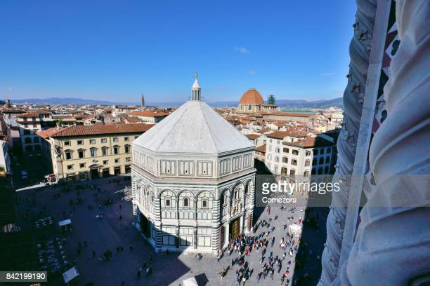 Baptistery of Saint John and Florence Cityscape