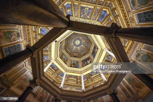 baptistery of san giovanni in laterano basilica in rome, lazio, italy - renaissance stock pictures, royalty-free photos & images