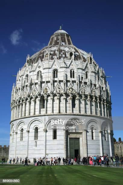 Baptistery of St John, Campo del Miracoli, Pisa, Italy.