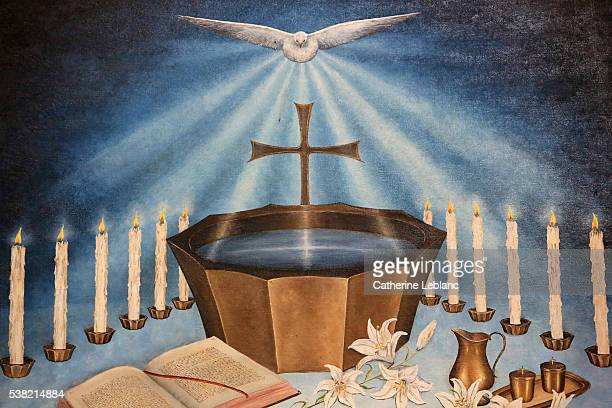 baptistery. - baptism stock pictures, royalty-free photos & images