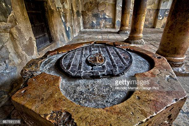 baptistry in the church of the nativity - 6th century bc stock photos and pictures