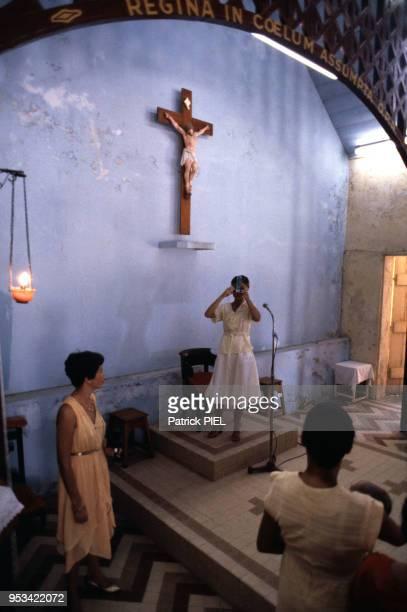 Baptême circa 1980 aux Saintes en Guadeloupe