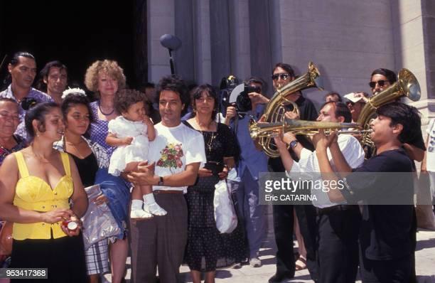Baptême de Myriam la fille de Chico membre des Gipsy Kings en juillet 1990 France